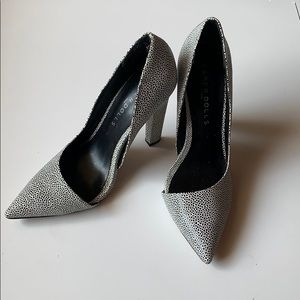 Black and white textures heels